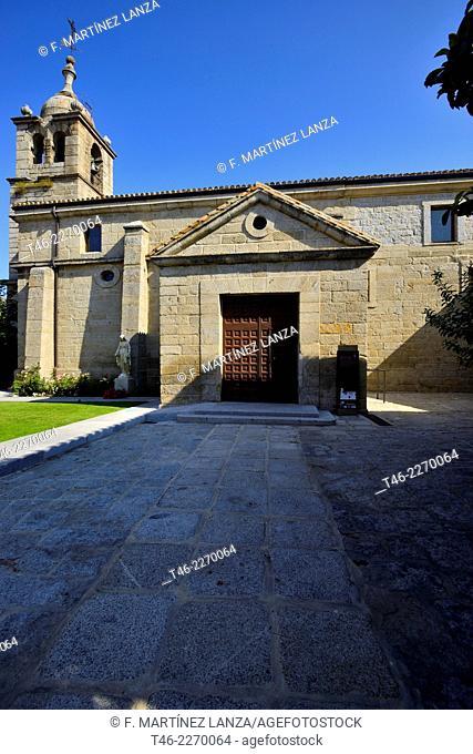 Church of San Pedro Apostol 1492 in the Town of Zarzalejo Madrid