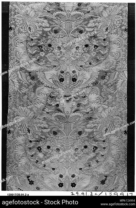 Piece. Date: ca. 1720; Culture: French; Medium: Silk; Dimensions: a. L. 133 1/2 x W. 22 1/4 inches (loom width) (339.1 x 56