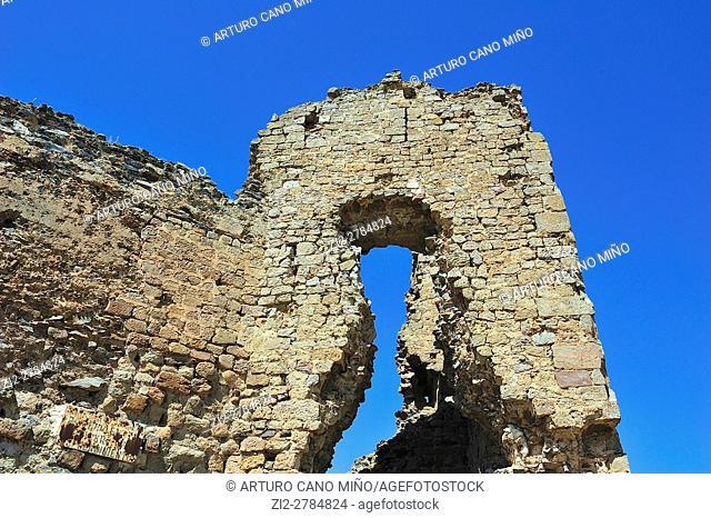 The castle, XIIth century. Trasmoz, Saragossa province, Spain