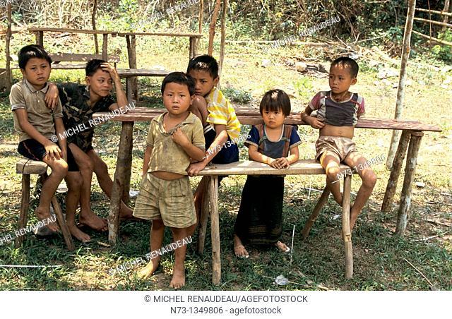 Vietnam, a group of children