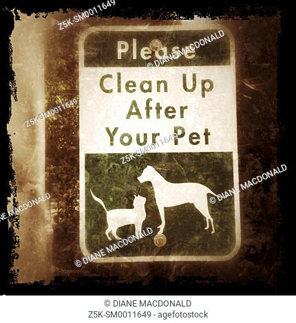 Informational sign about cleaning up after your pet
