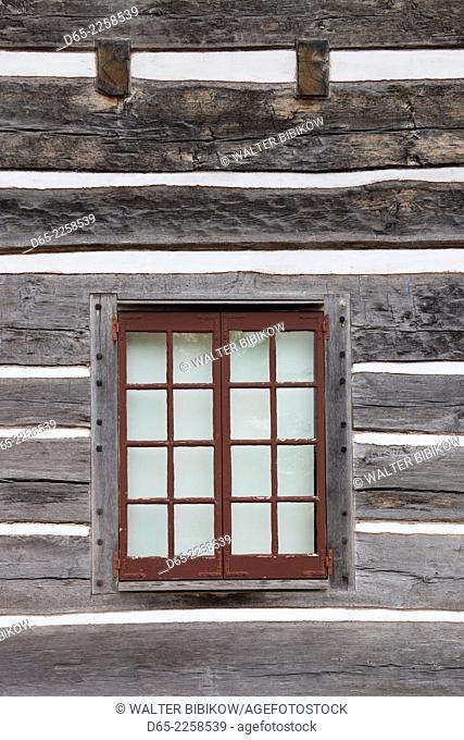 USA, North Carolina, Winston-Salem, Old Salem, house detail