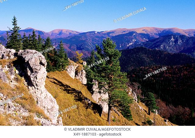 View of National Park Velka Fatra from the Ostra mountain, Slovakia