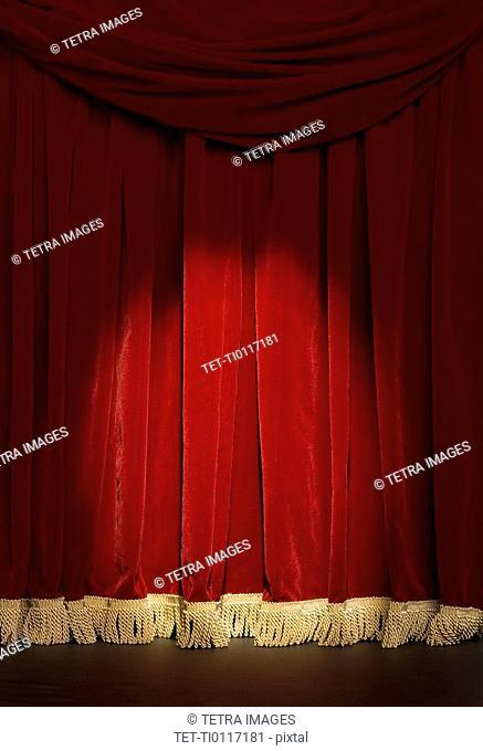 Curtain with spotlight