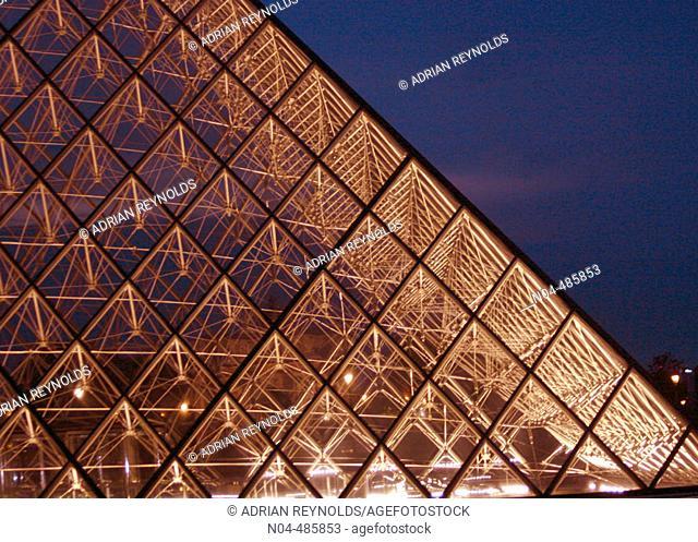 Pyramid, Louvre Museum, Paris, France