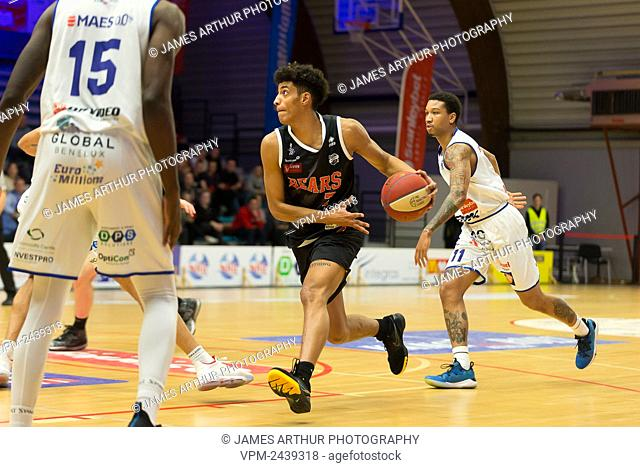 Leuven's Malcolm Cazalon pictured in action during the basketball match between Kangoeroes Mechelen vs Leuven Bears, Friday 06 December 2019 in Mechelen
