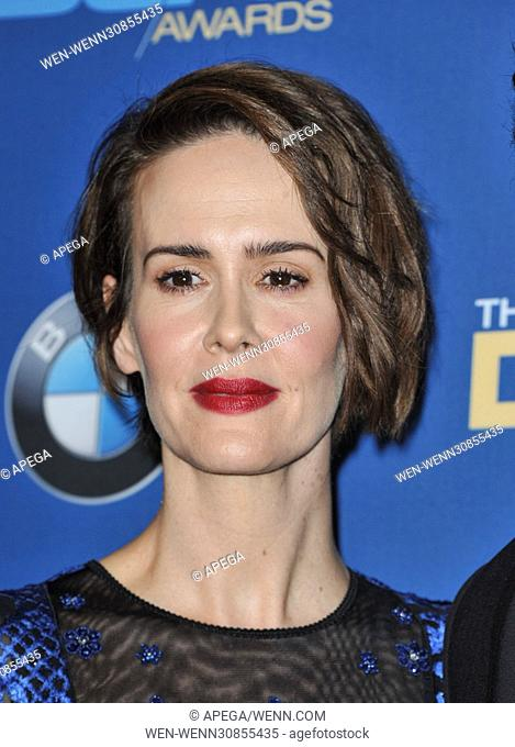 The 69th Annual Director Guild Awards held at the Beverly Hilton - Press Room Featuring: Sarah Paulson Where: Los Angeles, California