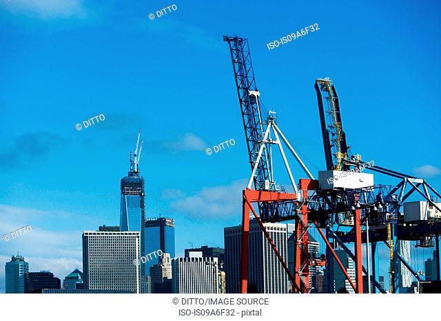 Container cranes, New York City, USA