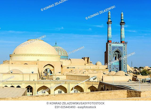 Grand Jame Mosque of Yazd city in Iran