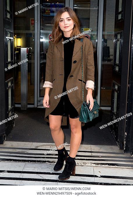 Jenna Coleman pictured leaving the Radio 2 studio Featuring: Jenna Coleman Where: London, United Kingdom When: 09 Sep 2016 Credit: Mario Mitsis/WENN