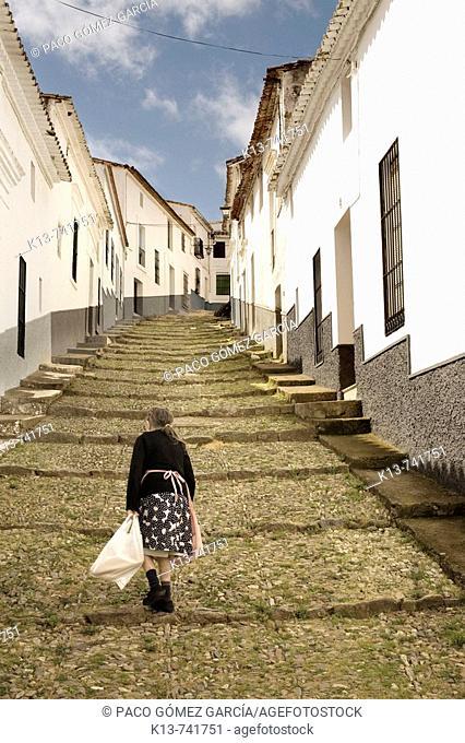 Street, Jabugo. Huelva province, Andalucia, Spain