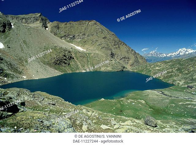 Lower lake, Les Laures valley, Dora Baltea central valley, Valpelline, Aosta Valley, Italy
