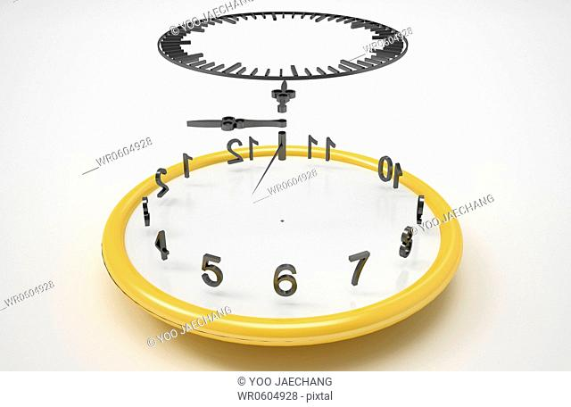 The time between the parts of clock