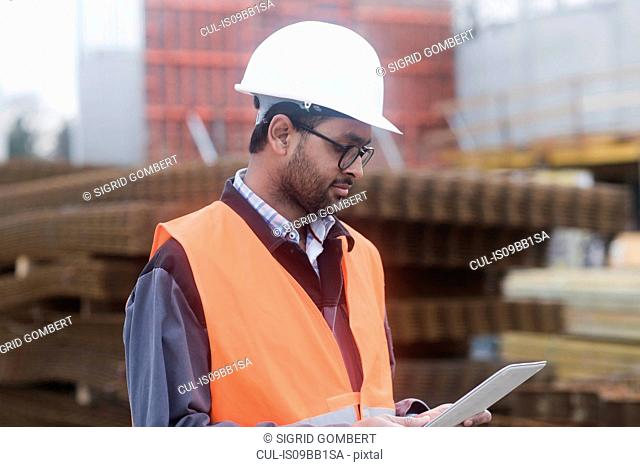 Civil engineer working at site