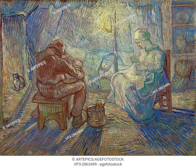 Vincent van Gogh - Night (after Millet) - Van Gogh Museum, Amsterdam