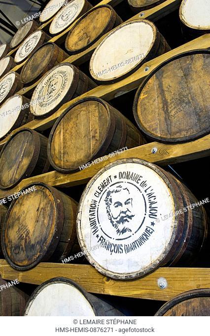 /France, Martinique (French West Indies) Le Francois, Domaine de l'Acajou, Clement housing Clement distillery, winery barrel for aging rum old