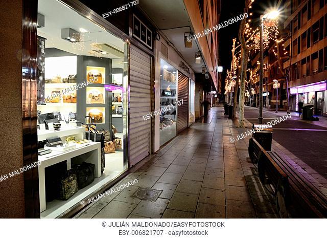 Premises exposing its kind in Christmas season in the city of Ciudad Real, Spain