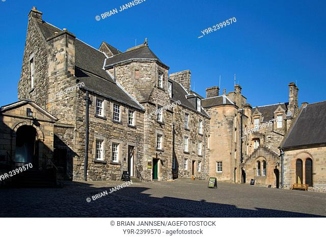 Inside the walls of Stirling Castle, the courtyard and royal residence, Stirling, Scotland, UK
