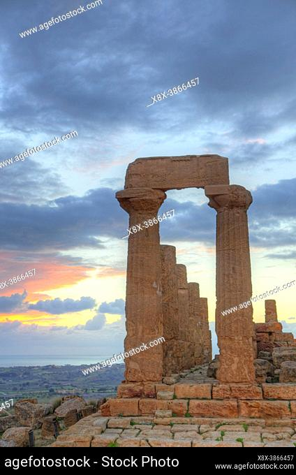 Temple of Juno at Valley of the Temples, Agrigento, Sicily, Italy