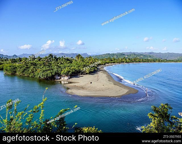Baracoa Beach, elevated view, Guantanamo Province, Cuba