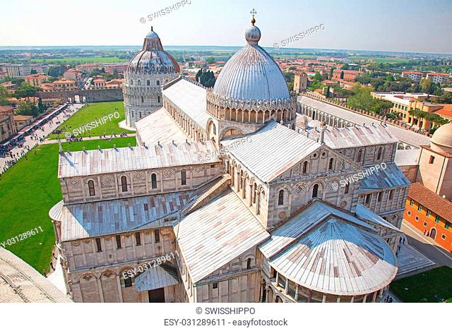 Cathedral near Leaning tower of Pisa, Italy