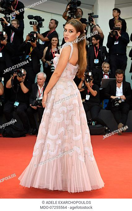 Adele Exarchopoulos at the 76 Venice International Film Festival 2019. Joker red carpet. Venice (Italy), August 31th, 2019