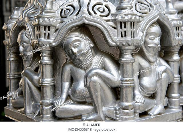 India, state of Gujarat, Kutch, sculpture of a jat temple