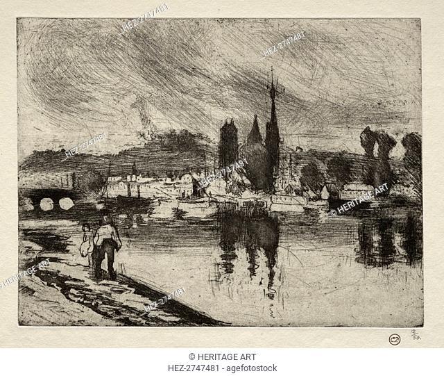 View of Rouen, 1884. Creator: Camille Pissarro (French, 1830-1903)