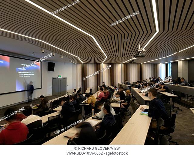 The newly completed Faculty of Engineering and IT (FEIT) building for the University of Technology, Sydney (UTS) City Campus des