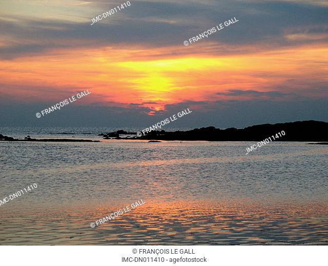 France, Brittany, Erdeven, Roche Seche