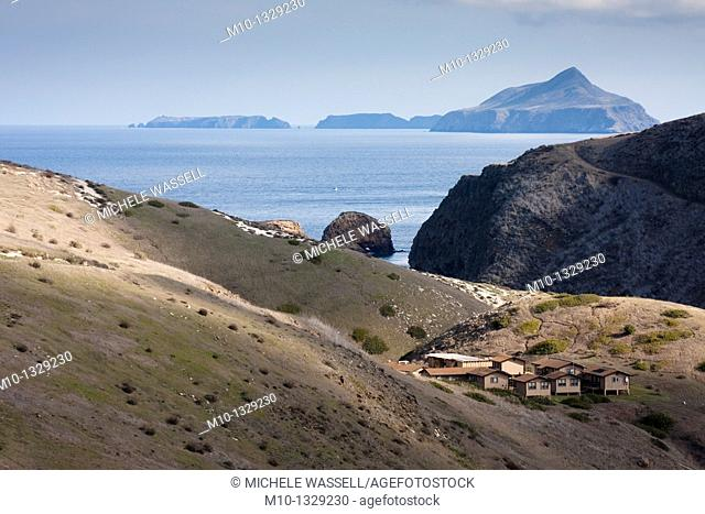 View from Cavern loop trail with Anacapa Island in the distance