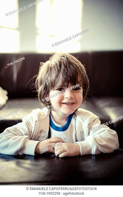Portrait of child smiling