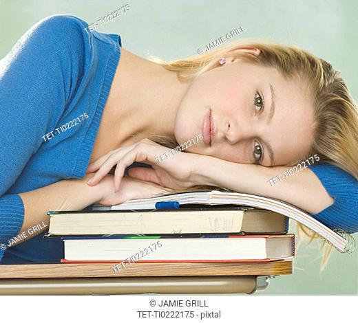Portrait of a college woman