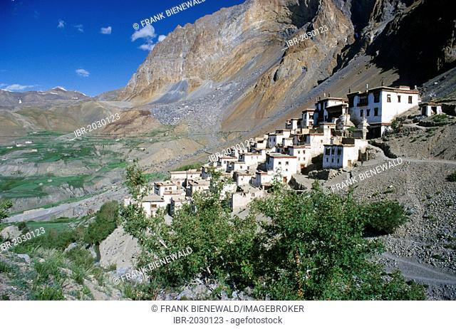 Lingshed, a remote village with one of the most important Gompas in Zanskar, Jammu and Kashmir, India, Asia