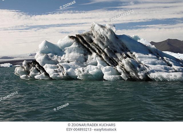 Icebergs in Jökulsárlón. Jökulsárlón Glacier Lagoon is a lagoon formed in front of the Breiðamerkurjökull glacier in South-East Iceland