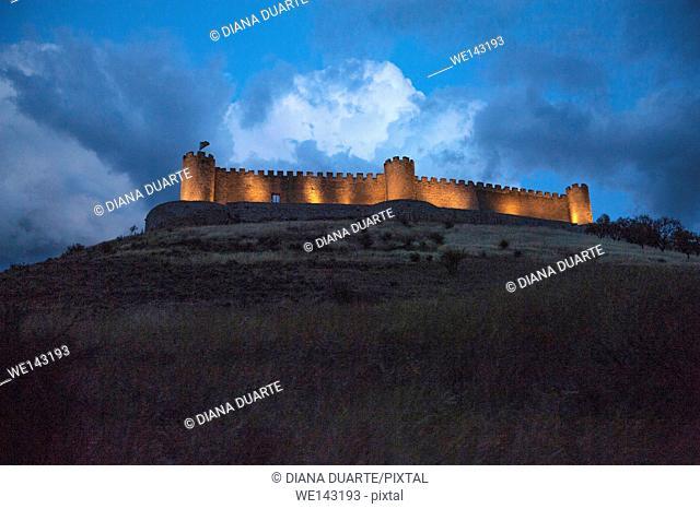 Jadraque Castle is built on a pleateau on top of a high, steep hill. Jadraque, Guadalajara, Spain