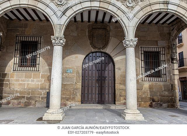 Plasencia City Hall building also called Consistorial House, Caceres, Extremadura, Spain