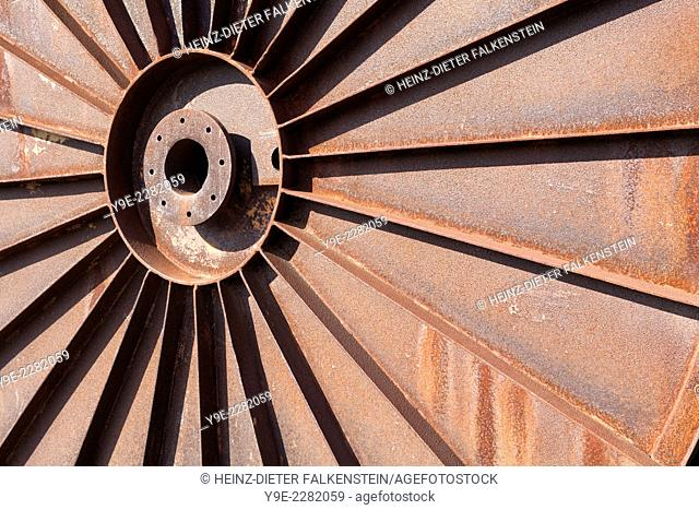 Rusty iron parts