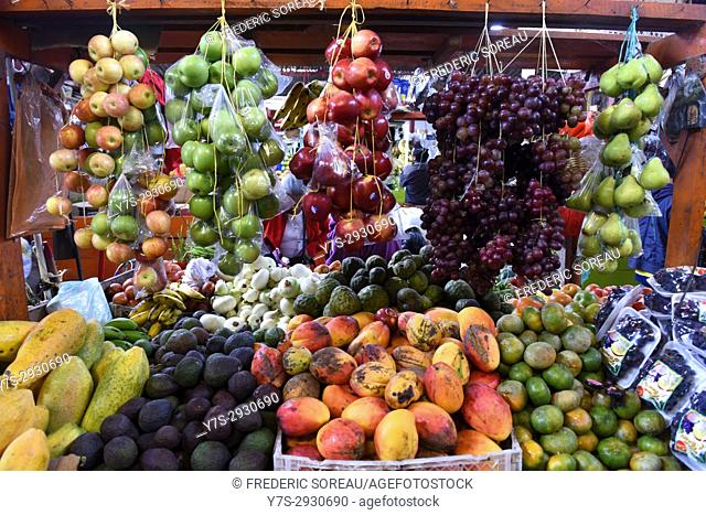 Fresh fruit and vegetables in San Agustin market, Colombia
