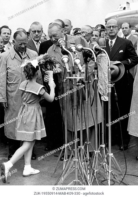 Sep. 14, 1955 - Bonn, Germany - West Germany's first chancellor KONRAD ADENAUER began his career in politics as a member of the Cologne City Council