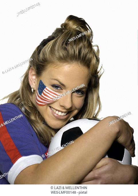 Female american soccer fan