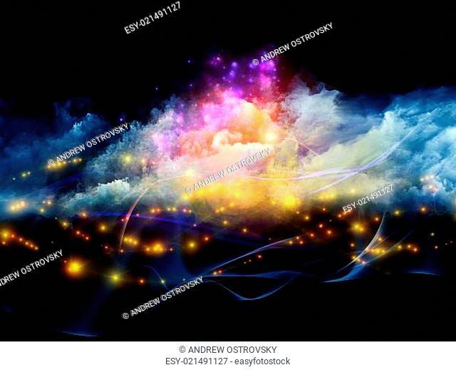 Lights in fractal foam