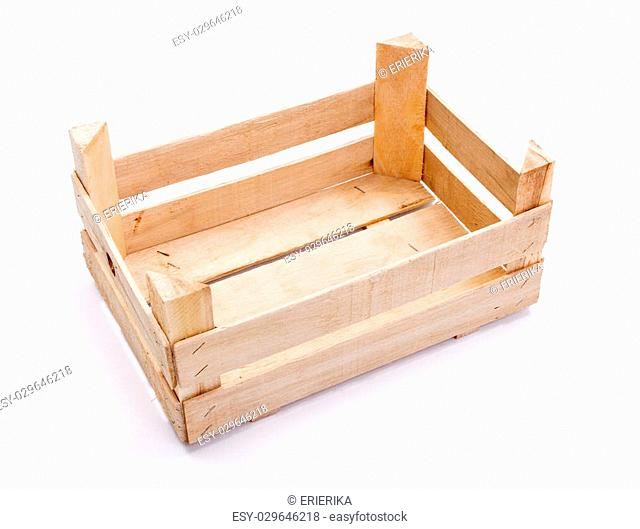 Empty wooden crate for fruits and vegetables