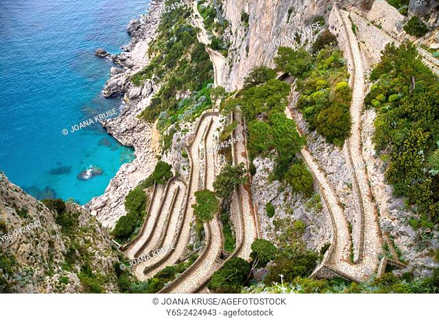 Via Krupp, Capri, Naples, Campania, Italy