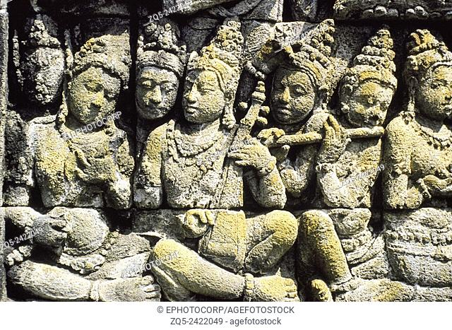 First gallery. All the carvings and statues in Borobudur are related to Buddha and his life