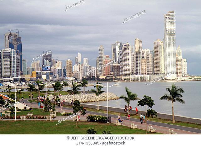 Panama, Panama City, Cinta Costera, Pacific Ocean, Coastal Beltway, Bahia de Panama, linear park, skyline, skyscraper, new construction, modern