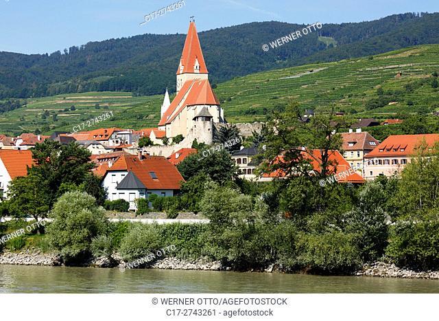 Austria, Lower Austria, A-Weissenkirchen in der Wachau, Danube, Wachau, Waldviertel, Saint Mary Himmelfahrt Church, fortified church, catholic parish church