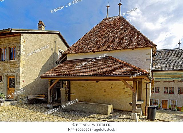 Brunnen, historisch, Kapelle, Chapelle à Calvaire