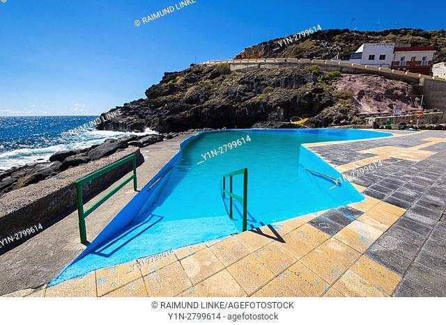 Pool on coast, Los Barrancos, Tenerife, Canary Islands, Spain