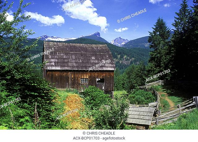 small farm, West Kootenays, British Columbia, Canada